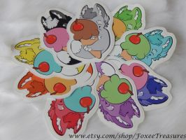 Cute Cuddly Kitten Stickers by FoxeeTreasures
