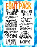 +FONT PACK by SaleySwillers