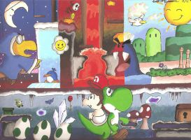 Yoshi's Island Adventure by DogDemonsRock5