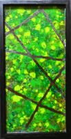 Swinging From the Vines (Melted Crayon on Glass) by AtomicColor