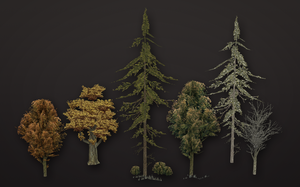Low-poly Trees by PLyczkowski
