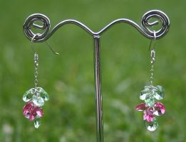 Swarovski Cluster Earrings by Bria-Silivren