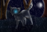 The Halfmoon in the storm [Commission] by xXSilver146Xx