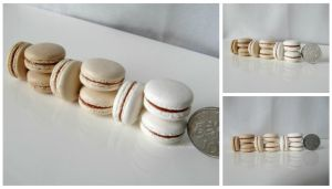 1:3 scale Miniature Salted Caramel Macarons by Snowfern