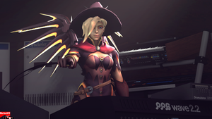 Synthesizers testing in SFM with Mercy by MarineACU