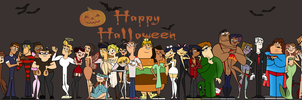 Total Drama Ridonculous Race - Happy Halloween! by EvaHeartsYou