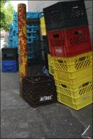 Colourful Crates by queegy