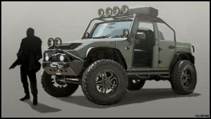 Primal Carnage jeep concept by Bradwhitlam