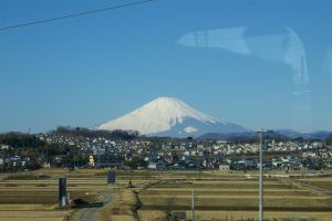 Fuji from a Train by Dali67