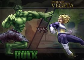 Hulk VS Vegeta by DenzelAJackson