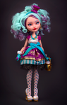 Madeline Hatter doll repaint by Szklanooka