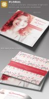 Floral Funeral Program Template by loswl