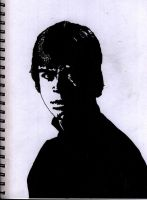 Luke Skywalker - Inked by g45uk2