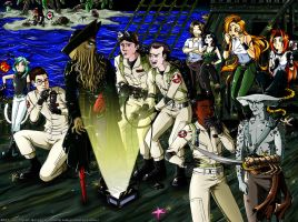 Davy Jones vs Ghostbusters by Sakura-Jones