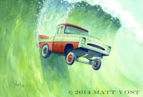 Yet Another 57 Dodge Pickup Painting by Varin-maeus