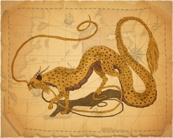 100 Dragon Crosses...Cheetah by CalicoGoldfish
