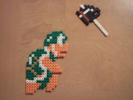 Perler Hammer Brother by NES--still-the-best
