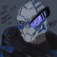 Garrus Painting by CubicInsanity