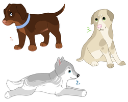 Puppy Adoptables (closed) by Nanabuns