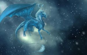 Bluedragon by valravnclaw