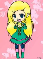Chibi Zelda with Link doll by ToonZelinkFanForever