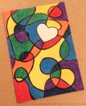 ACEO - Rainbow Squiggle Heart by strryeyedreamr27