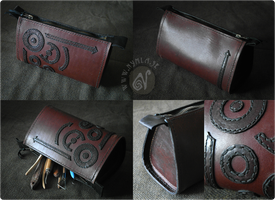 Steampunk Leather Bag (for sale on Etsy) by Nymla