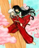 Inuyasha and Kagome by Gezusfreek