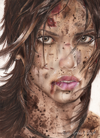 Lara Croft - Tomb Raider Drawing by ThatArtistChick