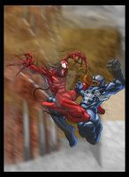 Venom Vs. Carnage by psychoheat