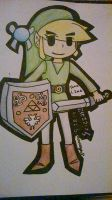 Toon Link x3 by crazyH8