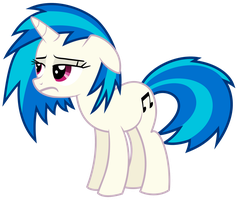 Vinyl Scratch - Having a bad day (updated) by namelesshero2222