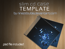 Slim CD case TEMPLATE by nine2doubleJ