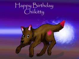 Happy Belated B-Day Chiikitty by wolfgrl1492