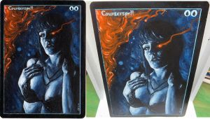 Magic the Gathering Alteration: Counterspell 6/18 by Ondal-the-Fool