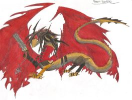 FFVII:Vincent Valentine Dragon by Frizz-Storyteller
