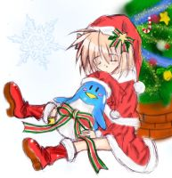little busters-komari-X'mas by haneneko