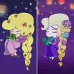 Rapunzel before and after by aprilmdesigns