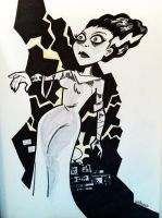 Bride of Frankenstein Albany Comic Con 2014 by BillWalko