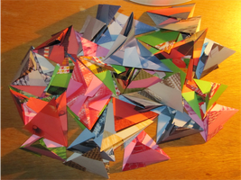 30 modules origami step by step : step 2 by human-chaos