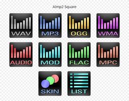 Aimp2 Icons SQUARE by EXO-02