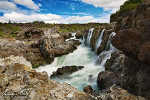 Barnabafoss II, Iceland by Nightline