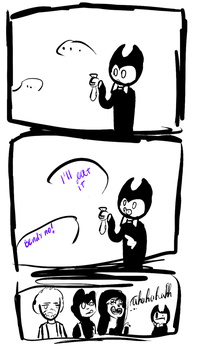 Bendy and sock by Notavily