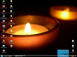 Calming Candle Desktop on 24th by MaskedJudas