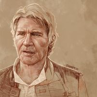 Daily Sketch 23: Han Solo Forever by artandwine365