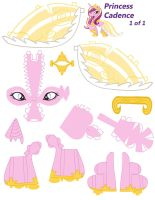 Princess Cadence papercraft part 1 by NoDreams