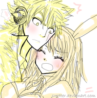 Laxus and Lucy ! by swotter
