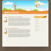 Artistic template for blog by mediarays