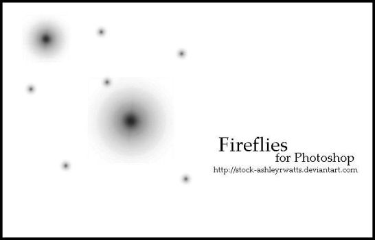 Fireflies for Photoshop by stock-ashleyrwatts