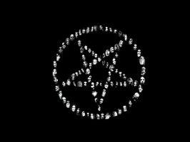 Black Metal Pentagram by Blackwinged666